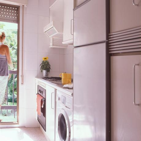 Kitchen of the apartment for rent in Madrid in the Proinca Lerida  Building