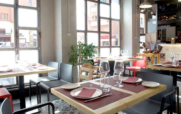 View of As Bastos gluten-free restaurant in Madrid