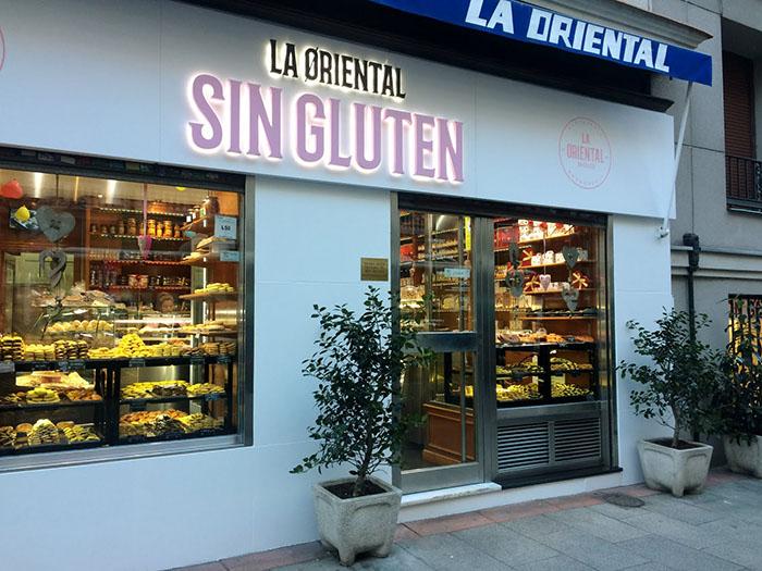 View of La Oriental gluten-free restaurant in Madrid