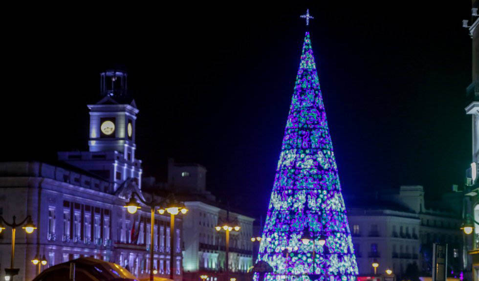 Image of Madrid lighting at Christmas 2019